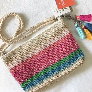 The Sak 3-in-1 Hand Crochet Striped Crossbody Bag